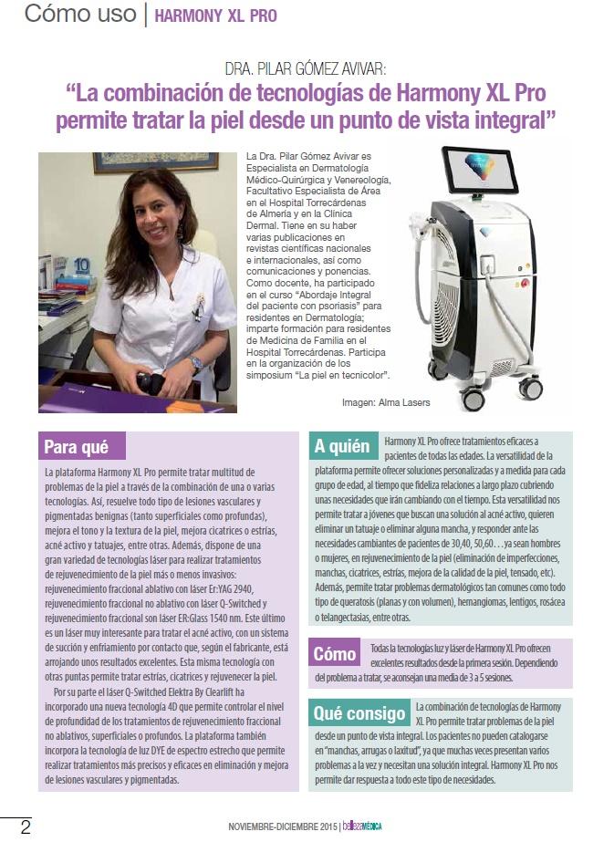 La Dra. Pilar Gómez Avivar explica el uso de Harmony XL Pro en sus pacientes