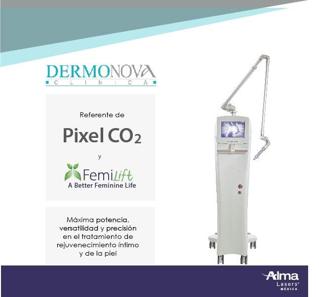 Dermonova y pixel co2
