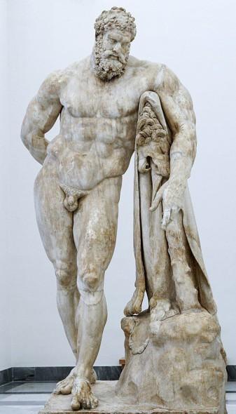 Hércules Farnese - cortesía de Wikipedia. Año c. 216 AD.
